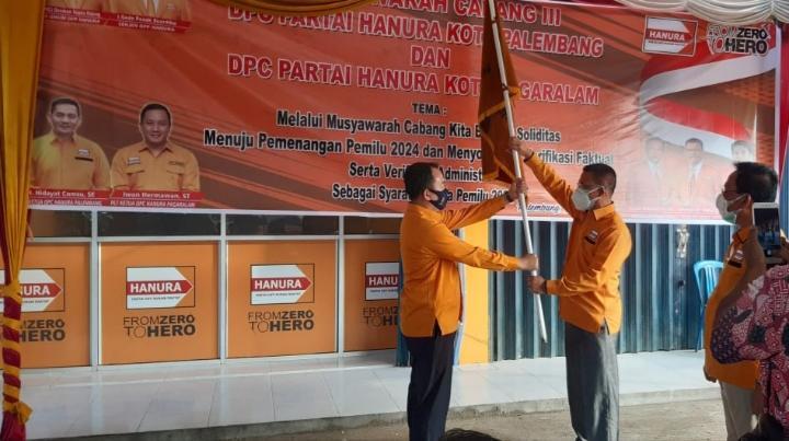 Arie Wijaya Terpilih Jadi Ketua DPC Partai Hanura Kota Palembang 2021-2026