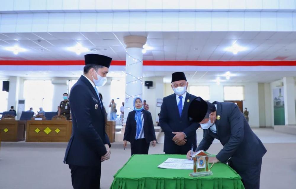 DPRD Ogan Ilir Terima Laporan Pertanggungjawaban Bupati Panca