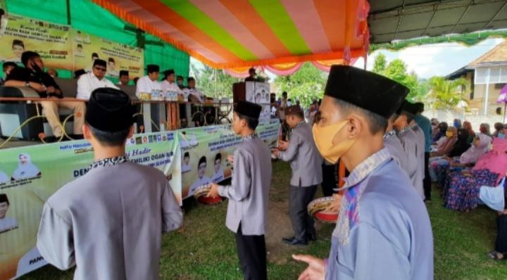 Mewakili Kaum Muda, Panca Dapat Dukungan dari Grup Nasyid Milenial Desa Srikembang