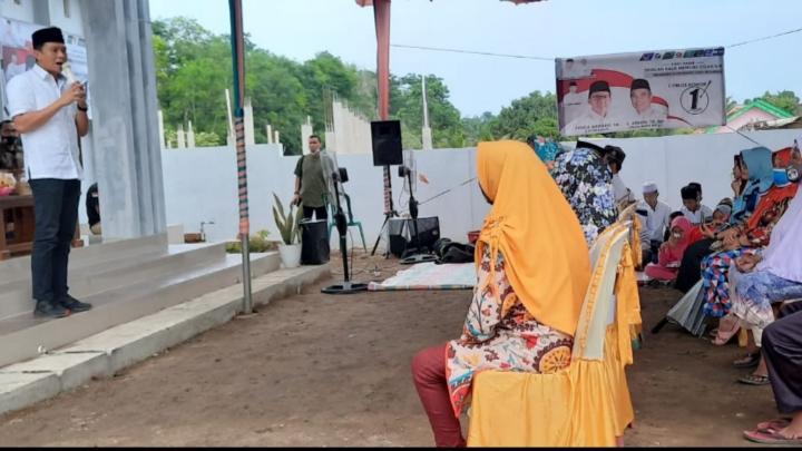 Kampanye di 3 Desa Kecamatan Tanjung Batu, Panca Tawarkan Sejumlah Program Kerja