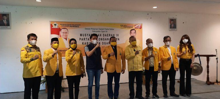Ketua DPRD Ogan Ilir H Suharto HS, Terpilih Aklamasi Sebagai Ketua DPD Golkar Ogan Ilir