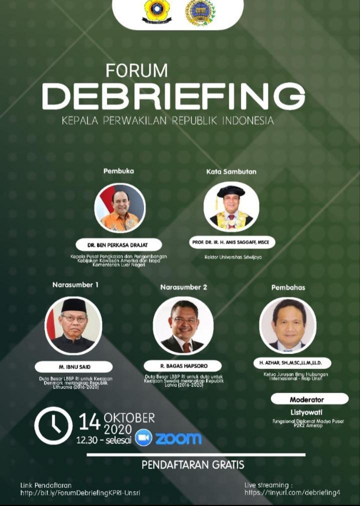 Melihat Lebih Dekat Kinerja Kepala Perwakilan RI Melalui Forum Debriefing di Unsri