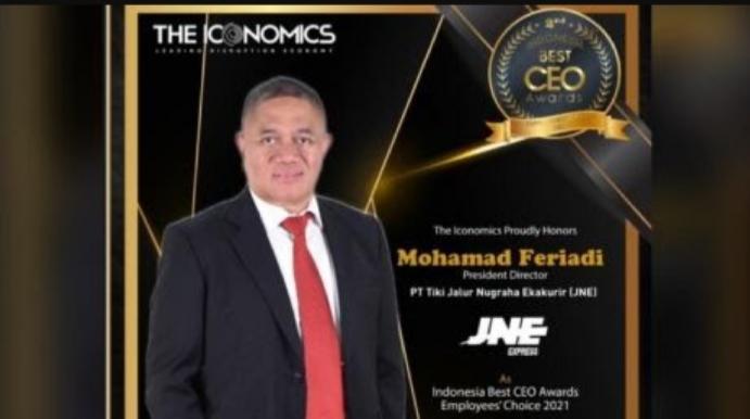 Presdir JNE M. Feriadi Soeprapto Dinobatkan Sebagai Best CEO Award 2021